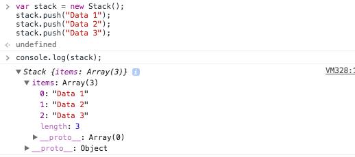 Javascript Stack Log